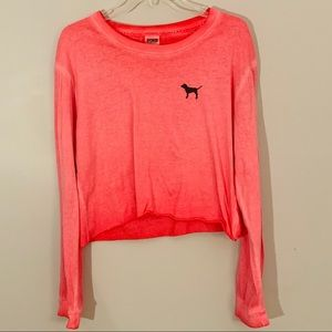 Victoria's Secret PINK Cropped long sleeve T Shirt